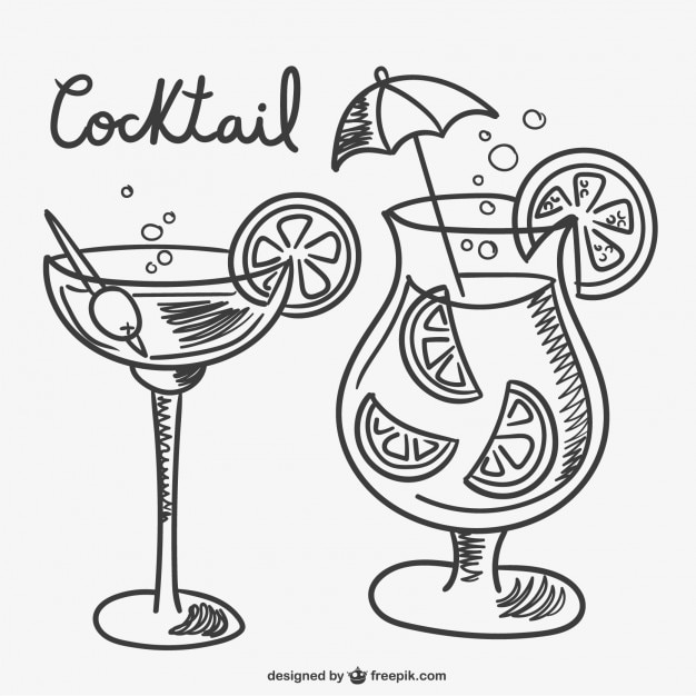 Cocktail drawings Vector | Free Download