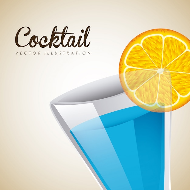 Cocktail graphic design  vector illustration Free Vector
