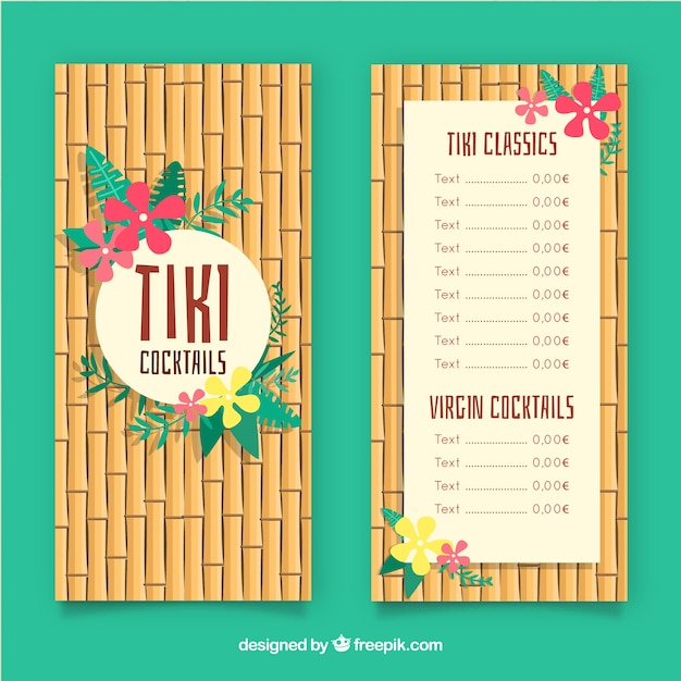 Cocktail Menu Template In Hand Drawn Style Free Vector  Cocktail Menu Template Free Download