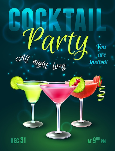 Cosmopolitan vectors photos and psd files free download for Best mixed drinks for a party