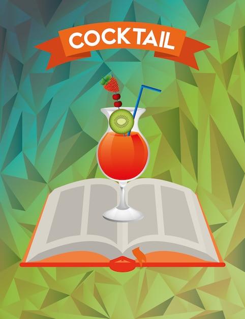 Cocktail recipe book Premium Vector