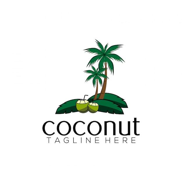 coconut logo template vector premium download