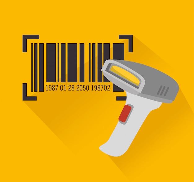 Code bar design Premium Vector