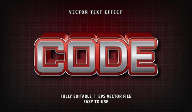 코드 텍스트 효과, 편집 가능한 텍스트 스타일 프리미엄 벡터