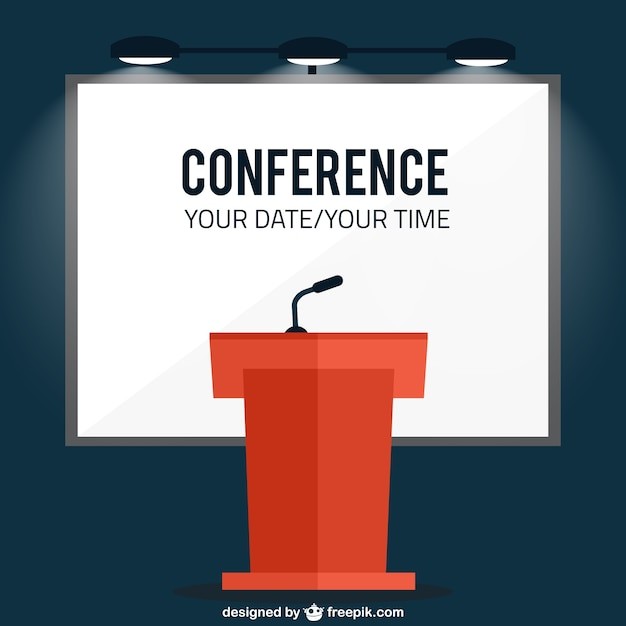 coference banner template vector free download