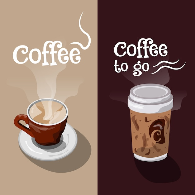 coffe banner design vector free download