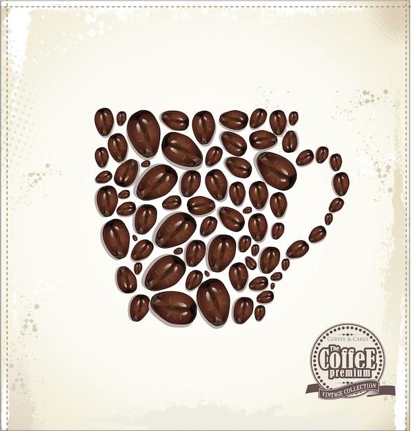 Coffee background Premium Vector