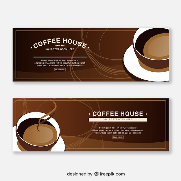 Coffee banners Free Vector