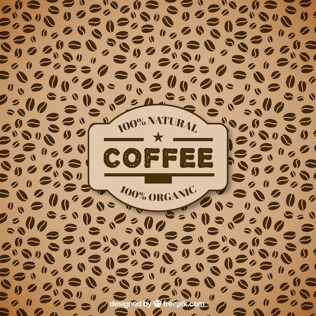 Coffee Beans Pattern Vector Free Download