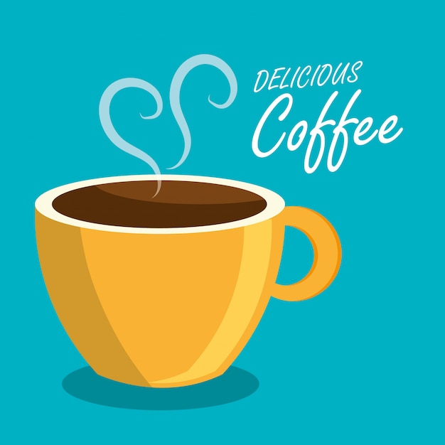 Coffee beverage drink isolated Premium Vector