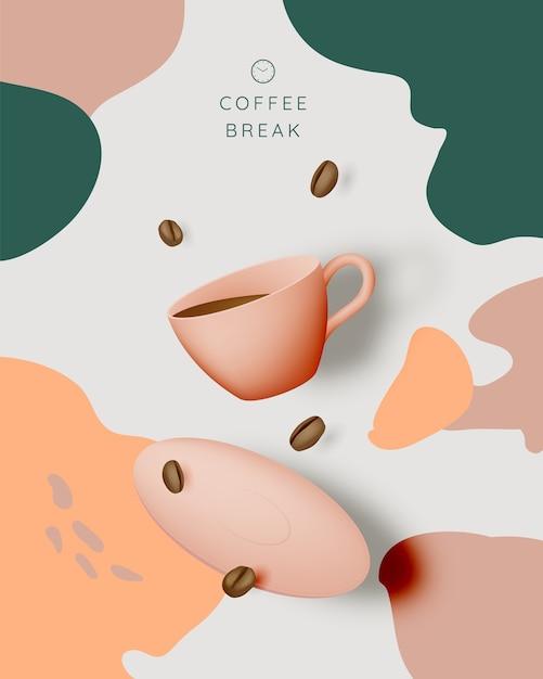 Coffee break background Premium Vector