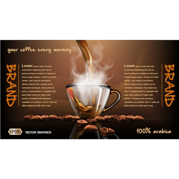 Coffee Brochure Template Vector  Free Download