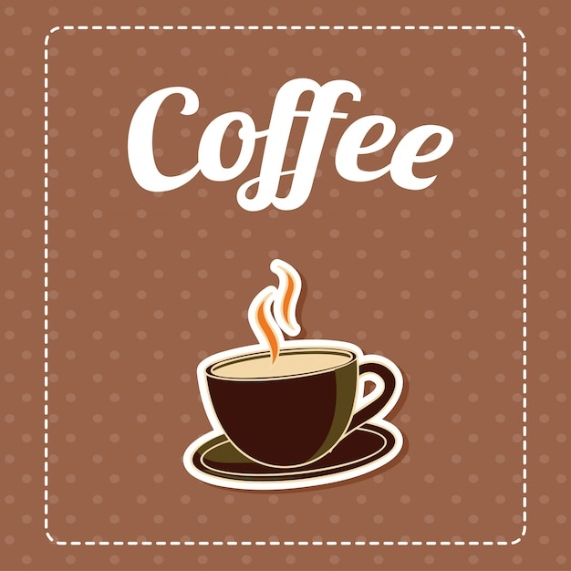 Coffee in brown pattern background Free Vector