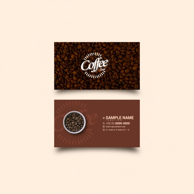 Coffee business card template vector free download coffee business card template free vector wajeb Choice Image