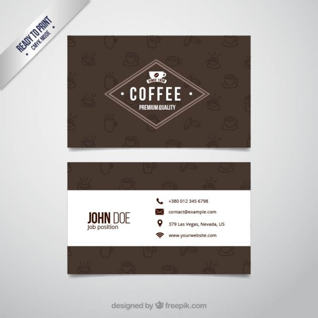 Coffee business card vector premium download coffee business card premium vector reheart Image collections