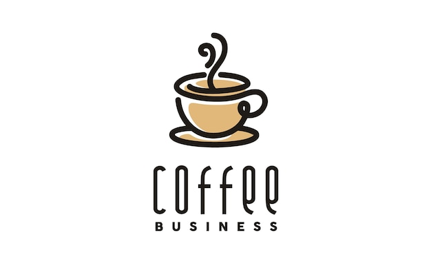 Coffee / cafe logo design Premium Vector