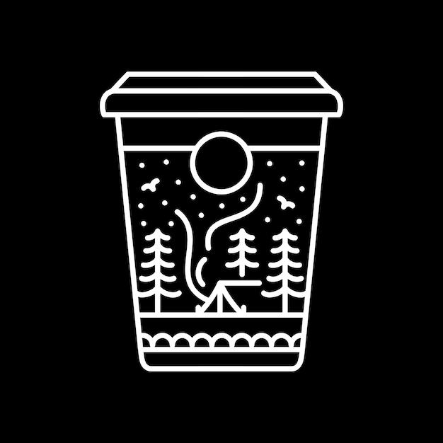 コーヒーキャンプ Premiumベクター