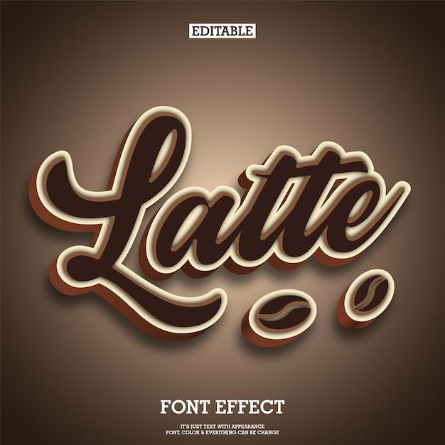 Coffee and chocolate typography text logo brand Premium Vector