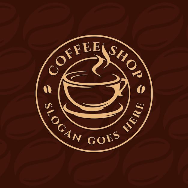 Coffee, coffee shop logo template Premium Vector