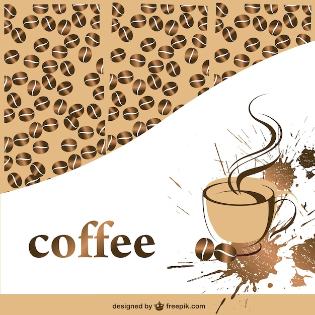 coffee cup and beans background vector free download. Black Bedroom Furniture Sets. Home Design Ideas