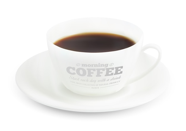 Coffee cup print design. Free Vector
