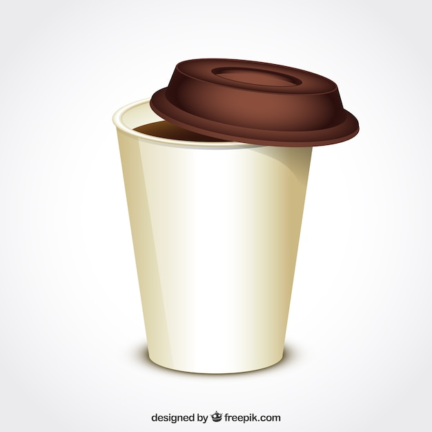 Coffee cup for take away Free Vector