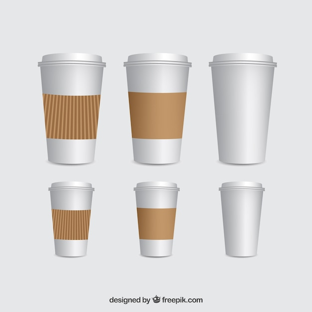 coffee cups template vector free download