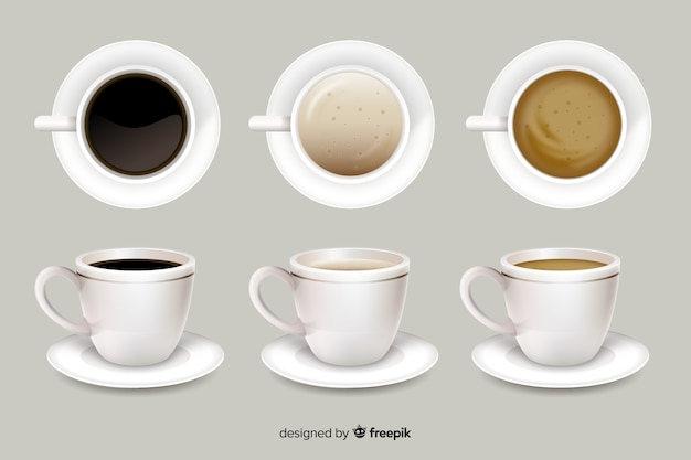 Coffee cups Free Vector