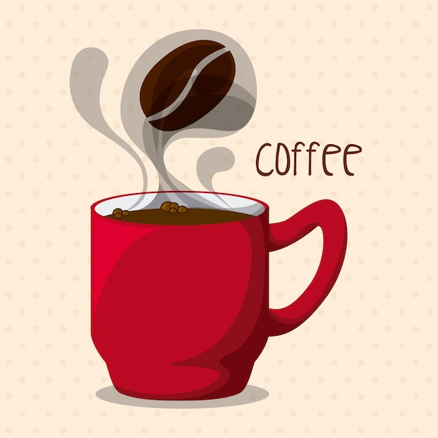 Coffee design over pink background vector illustration Premium Vector
