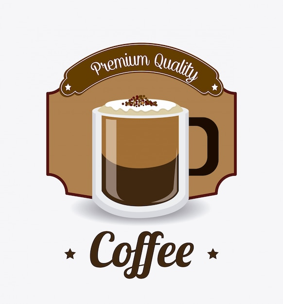 Coffee drink design. Premium Vector