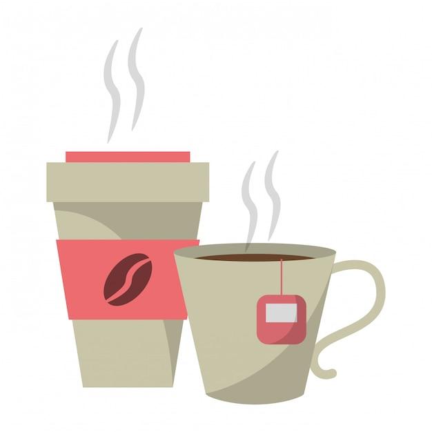 Coffee drinks concept Premium Vector