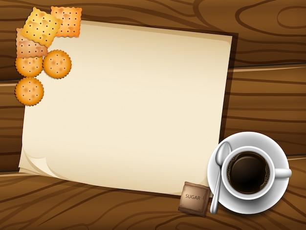 Coffee frame Free Vector