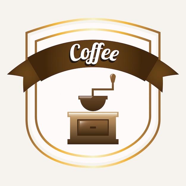 Coffee graphic design  vector illustration Free Vector
