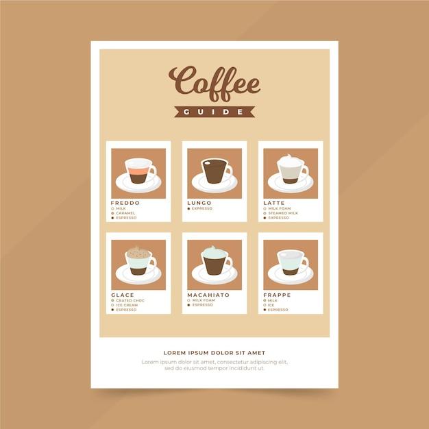 Poster della guida del caffè Vettore gratuito