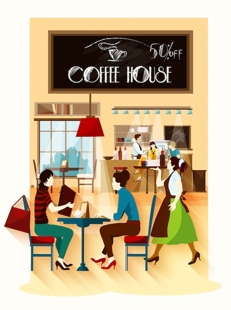 Coffee house concept Free Vector