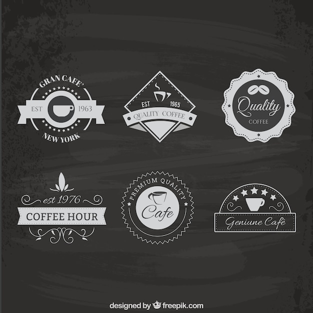 Coffee house logo pack Vector | Free Download