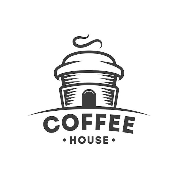 Coffee house logo Premium Vector