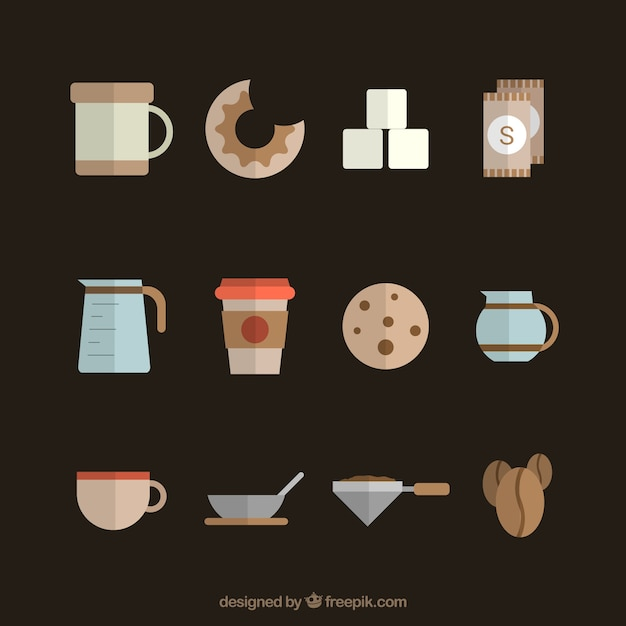 Coffee Icons Collection Vector Free Download