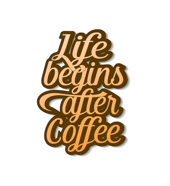 Кофейная надпись Premium векторы