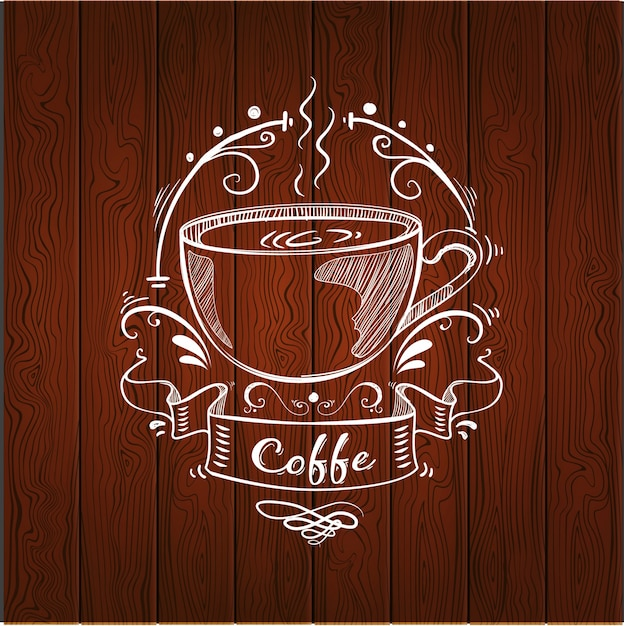Дизайн логотипа кофе Бесплатные векторы