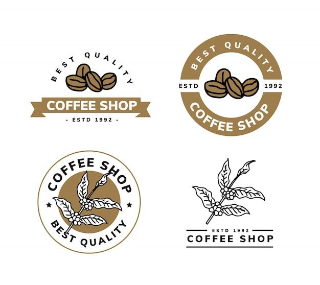 コーヒーのロゴデザイン Premiumベクター