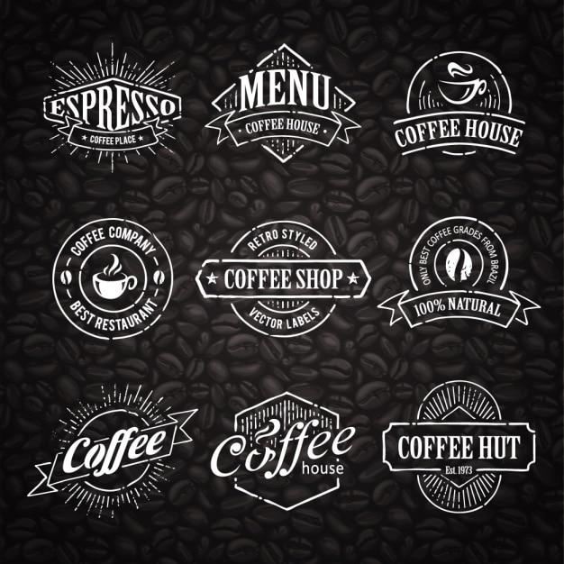 Coffee Logo Templates Collection Vector