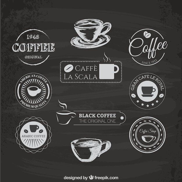 Coffee logos Free Vector