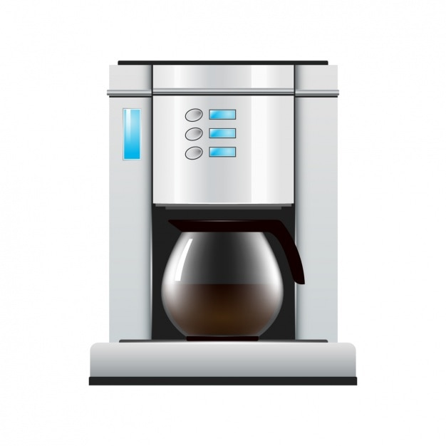 Coffee maker design Vector Free Download
