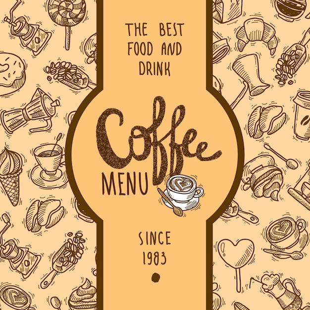 Метка меню кофе Бесплатные векторы