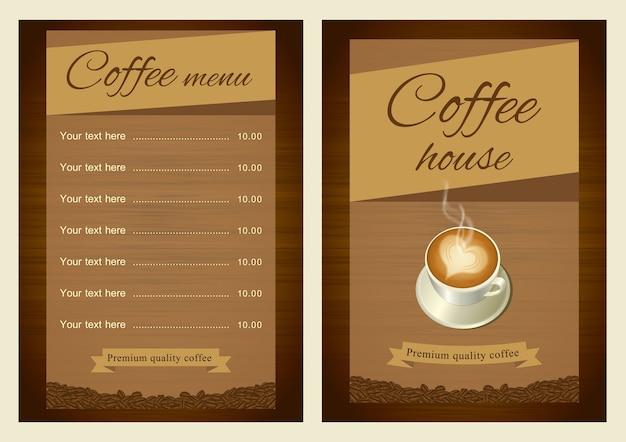 Coffee Menu Template Vector
