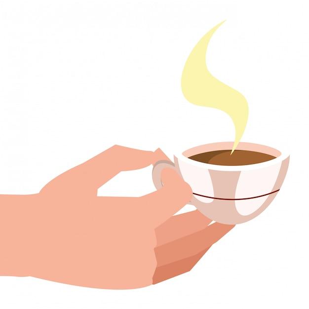 Coffee mug cartoon Premium Vector
