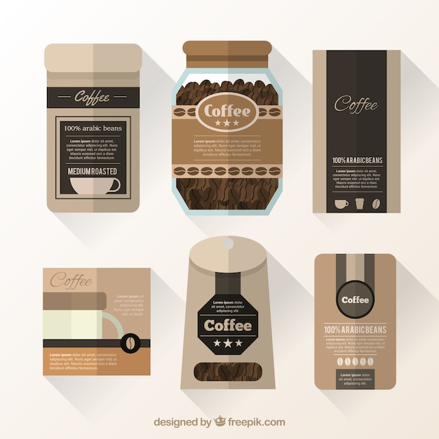Coffee packaging collection Vector | Premium Download