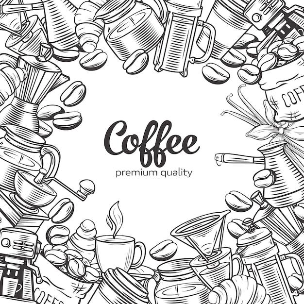 Coffee page Premium Vector