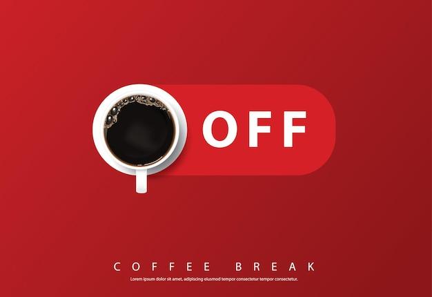 Illustrazione di flayers della pubblicità di progettazione del manifesto del caffè Vettore gratuito